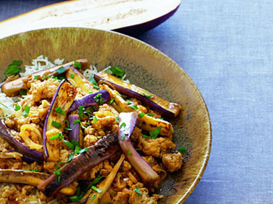 Spicy eggplant with pork recipe sunset magazine forumfinder Gallery