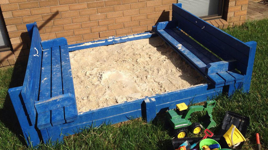Build a sandbox with seating
