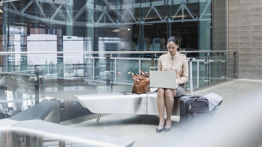 Business class traveler