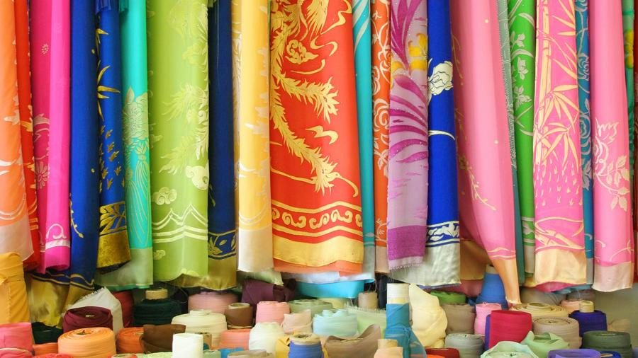 Little Saigon, O.C. fabric store