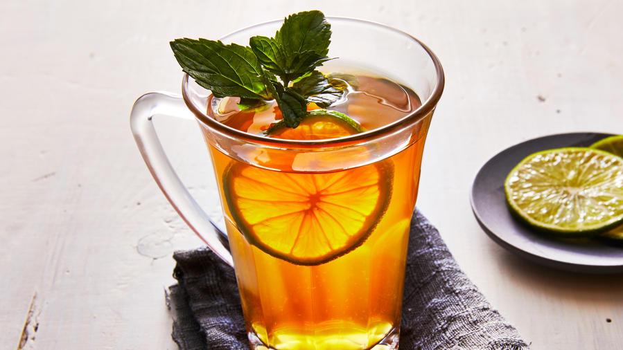 Winter Drinks: Hot Mojito Tea