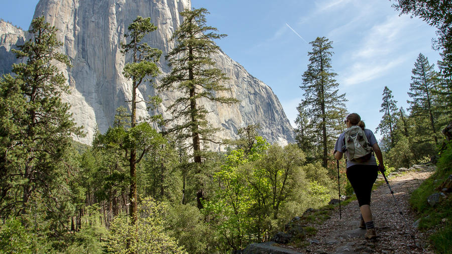 Hiking in Yosemite National Park. (Photo by Christian Arballo, via Flickr.)