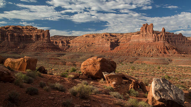 Valley of the Gods, in southeastern Utah, near Cedar Mesa. (Photo by Bureau of Land Management.)