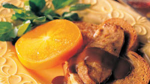Fuyu Persimmons with Foie Gras