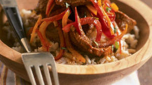 Mexican Flank Steak with Brown Rice