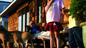 Houseboat children
