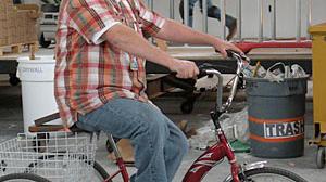 Blu Homes factory bicycle