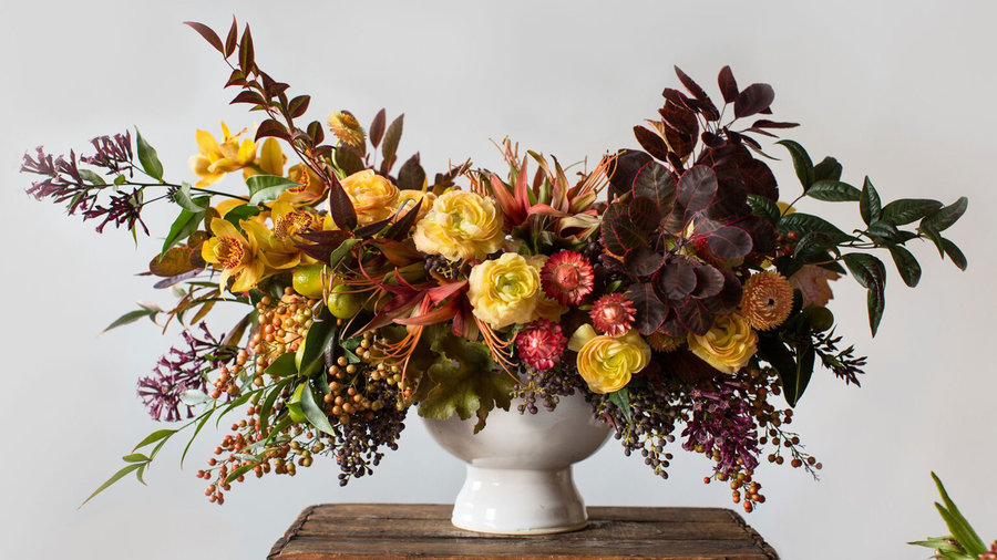 Make a Stunning Fall Floral Arrangement