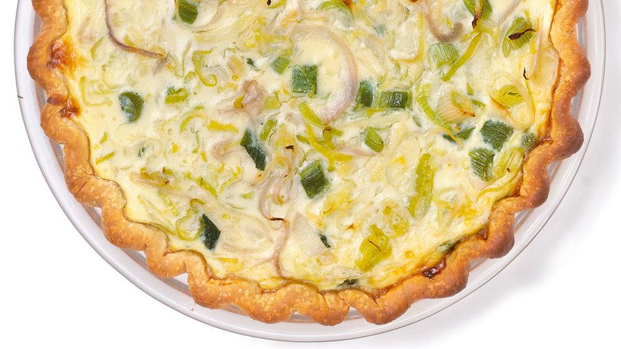 Potluck mains: Three-Onion Quiche (0416)