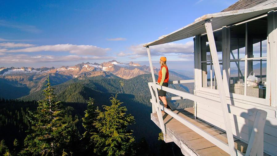 Firetower accommodations view