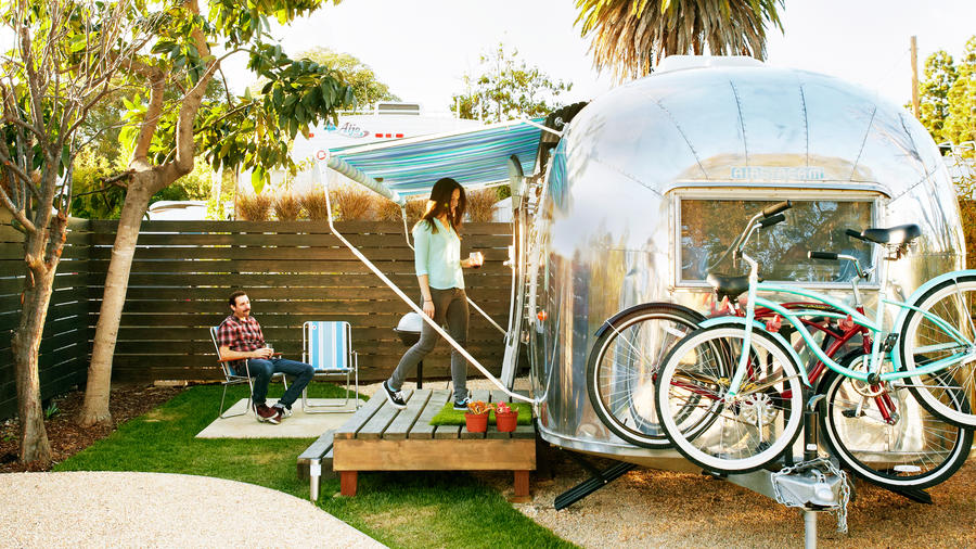 Santa Barbara unusual hotels in RV campers at AutoCamp