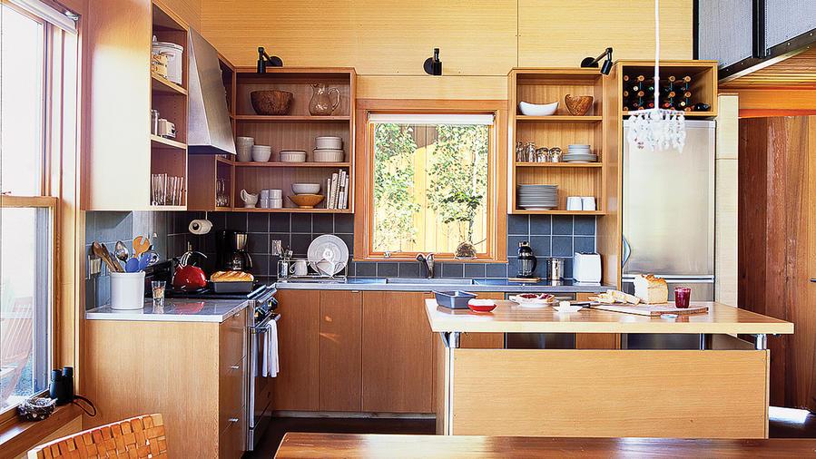 Jewel Like Cabin Kitchen