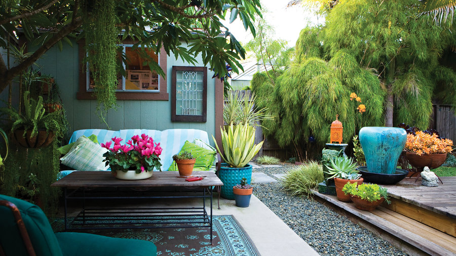 23 small yard design solutions sunset magazine sunset for Patio designs for small areas