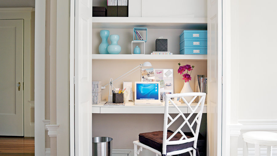 Closet becomes office