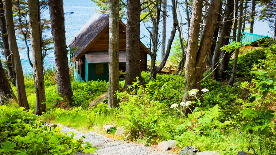 Cozy cabins at Point no Point in Shirley, B.C.
