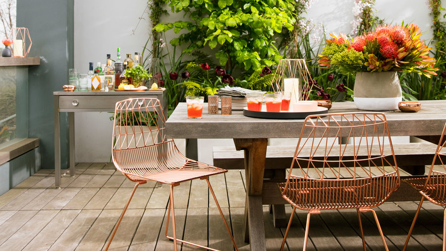 Copper Cool Dress Up Your Outdoor Dining Room