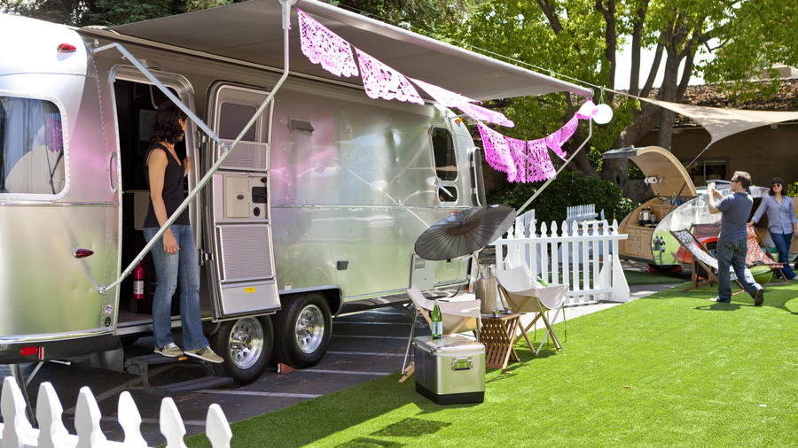 Airstream trailer & Glam Camping: Rethink the Pitched Tent - Sunset Magazine - Sunset ...