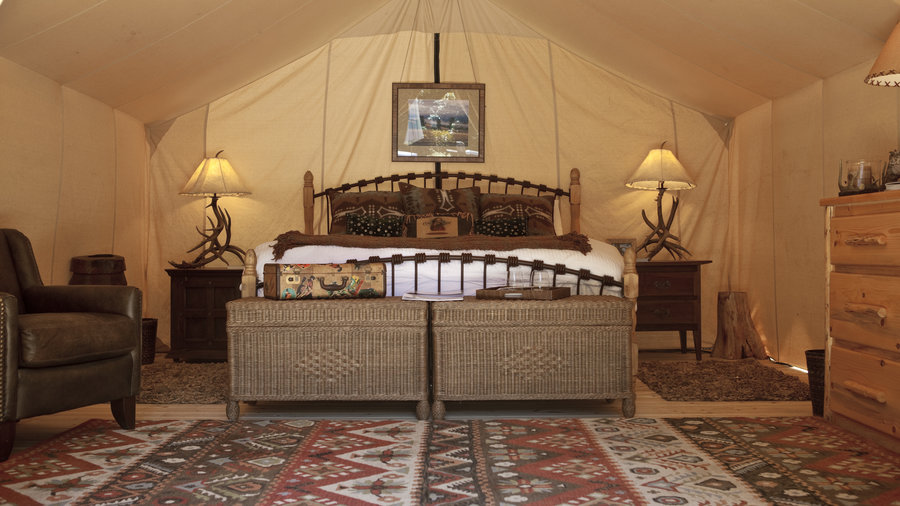 Tent c&ing redefined Feather beds & Glam Camping: Rethink the Pitched Tent - Sunset Magazine - Sunset ...