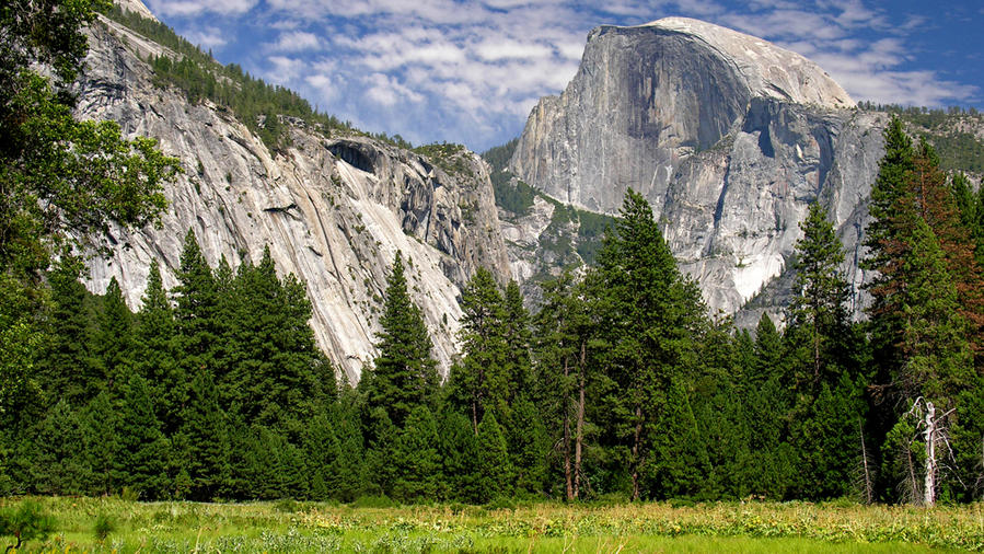 The majestic Half Dome from Cook's Meadow on the Half Dome Trail, one of the best hikes in Yosemite