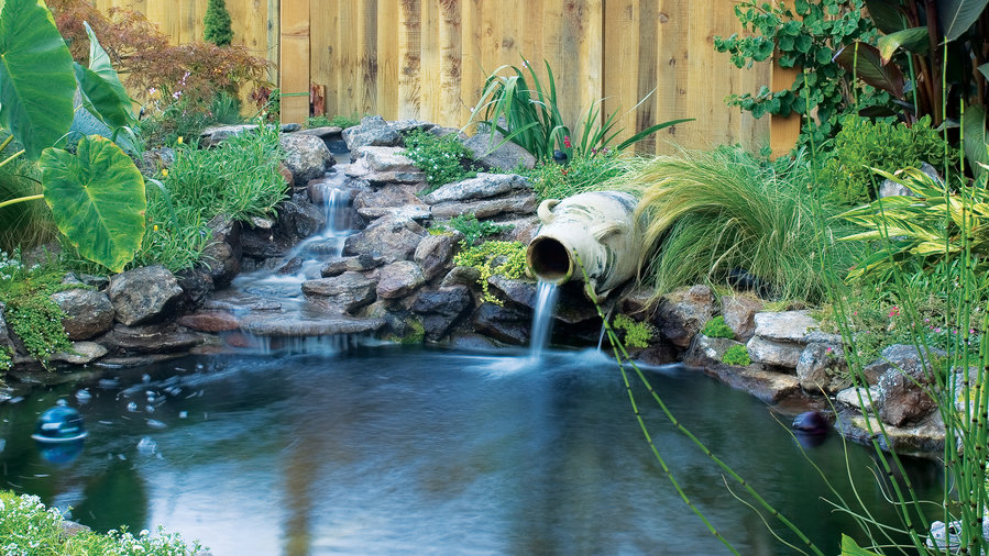 Raised Garden Ponds With Waterfalls