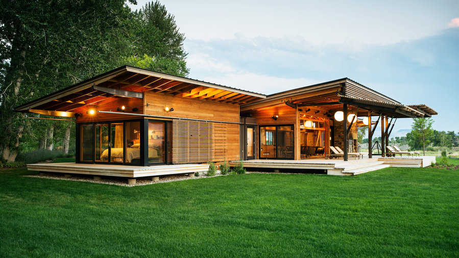 7 favorite prefab homes sunset magazine for Western style homes pictures