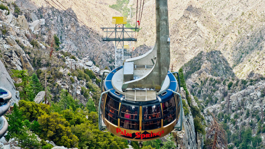 Cable car at Chico Canyon with some of the best hikes at Mt. San Jacinto State Park