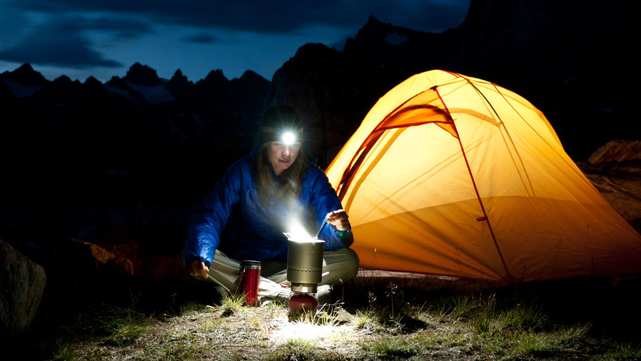 Bring a headlamp for hands-free camping chores in the dark