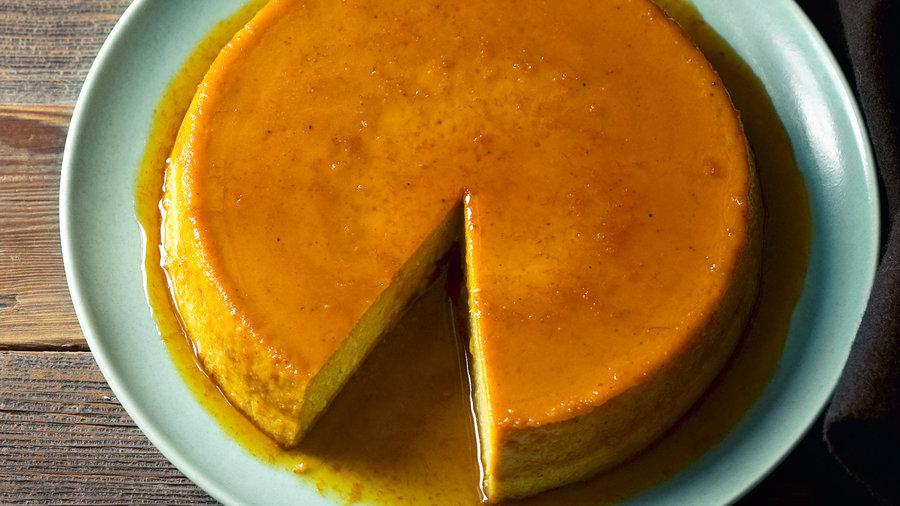 Eggy desserts: Caramelized Orange Pumpkin Flan (0415)