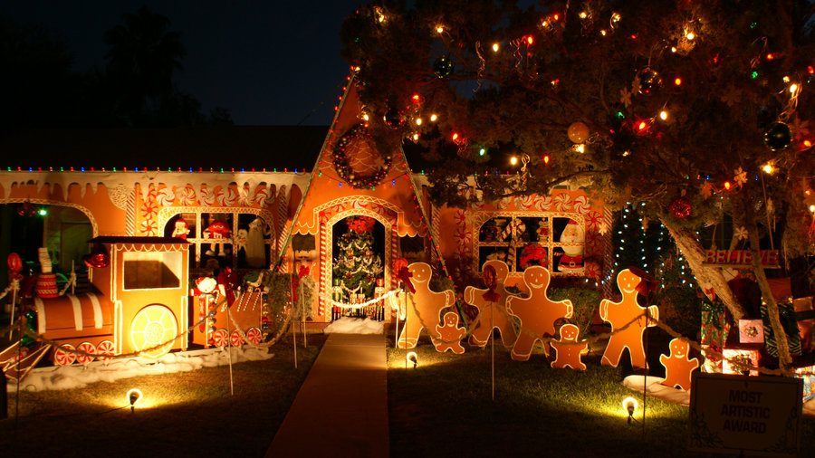 The light display at the Winterhaven Festival of Lights in Tucson