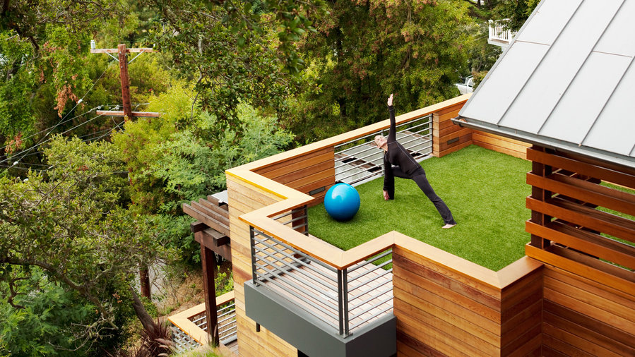 Sustainable treetop home sunset magazine sunset magazine for Leed certified house plans