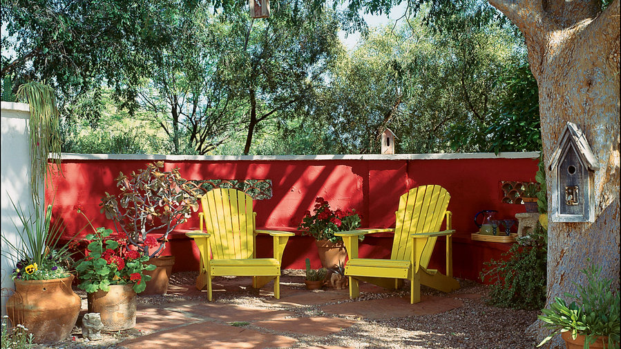 Red-hot patio