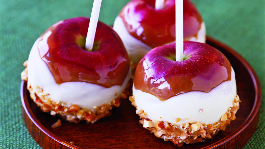 Caramel apples with a twist