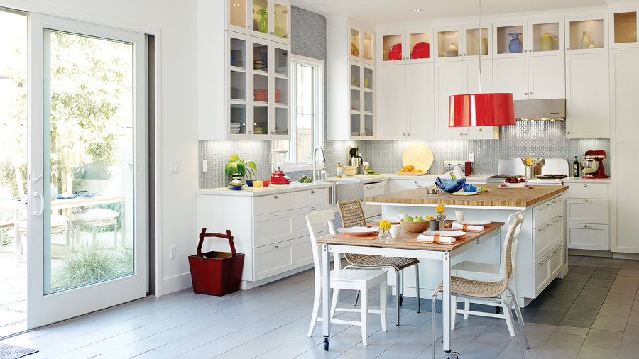 Clean Yet Colorful Kitchen