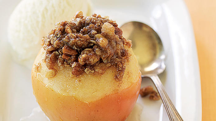 Apple-Crisp Baked Apples