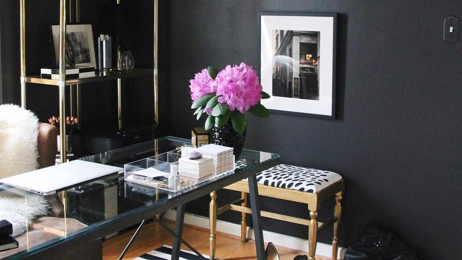 Don't be afraid to mix metallics against a dark surface