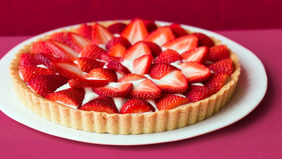 Brown Sugar Strawberry Tart (0410)