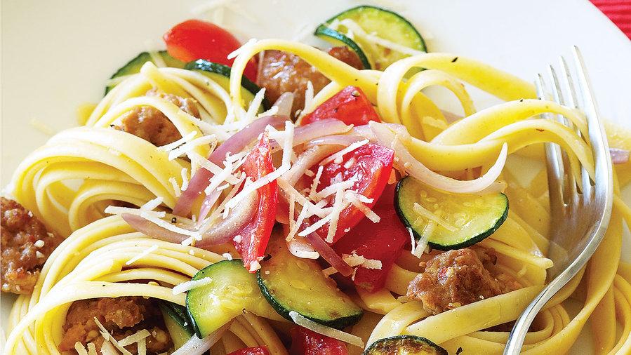 Summer squash: Italian Sausage and Zucchini Pasta