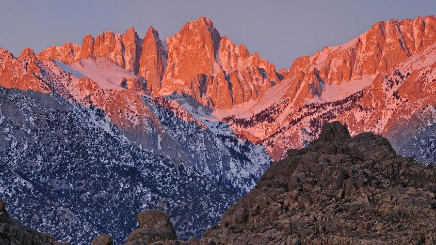Mount Whitney in the California Sierra Nevada