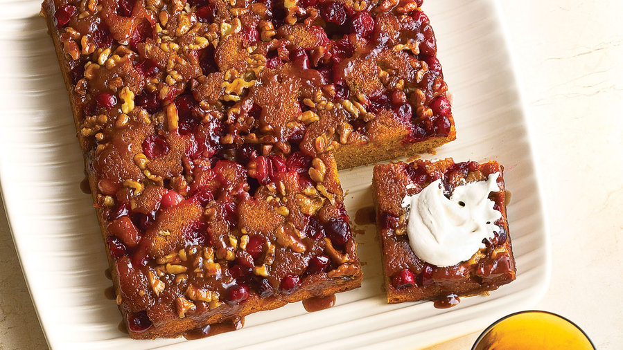 Cranberry Pumpkin Upside Down Cake Sunset
