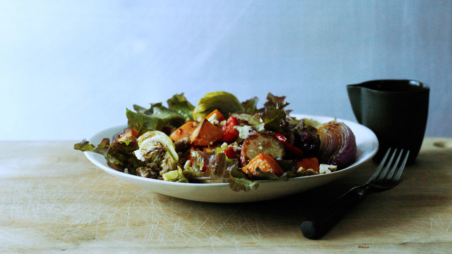 Roasted Vegetable Salad with Honey Dressing