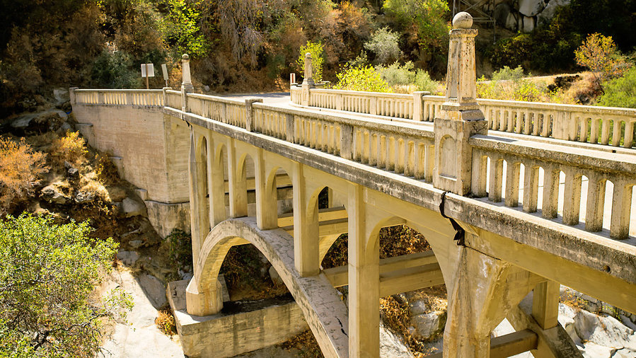 Mineral King bridge in California Sierra Nevada