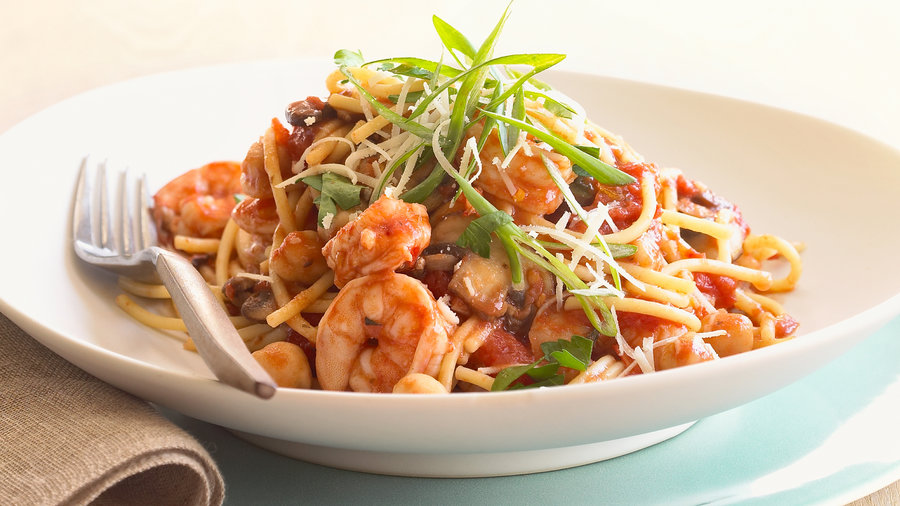 Shrimp and Chickpea Pasta