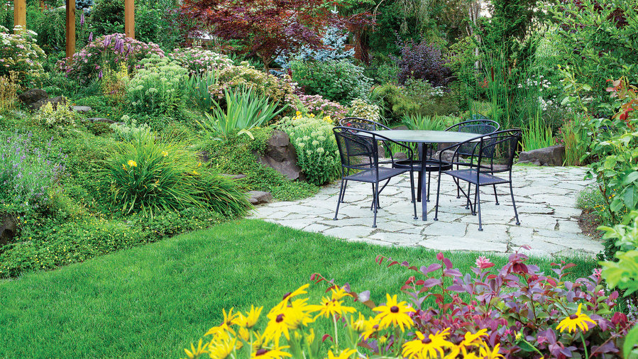 4 Solutions for a Sloped Yard - Sunset Magazine - Sunset ... on Backyard With Slope Ideas id=35102