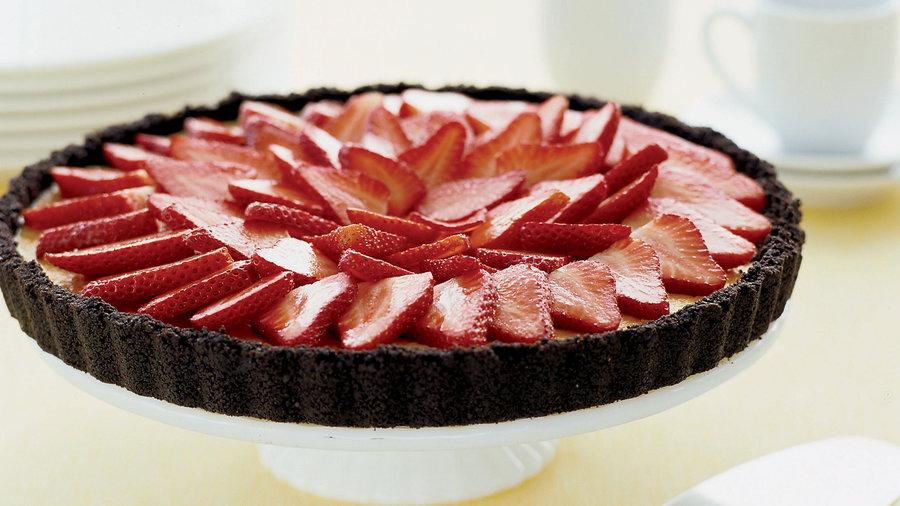 Mascarpone Tart with Strawberries