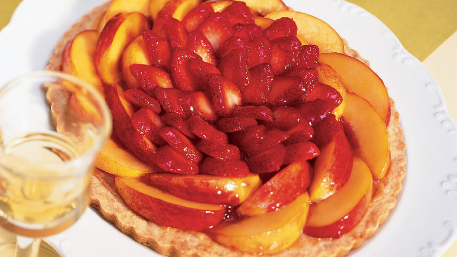 Strawberry-Nectarine Almond Tart