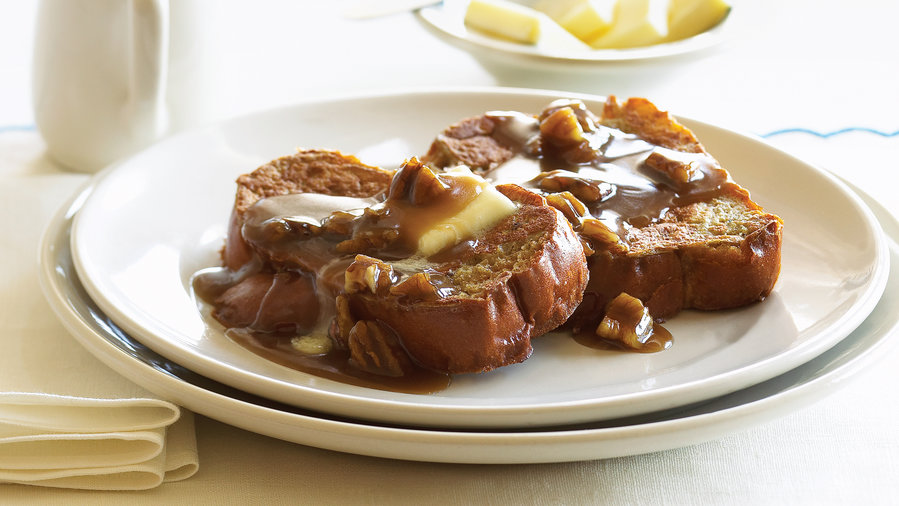 Toffee French Toast with Pecans