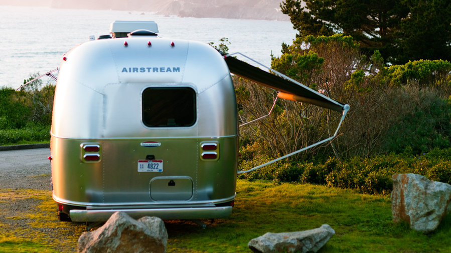 Parked Airstream
