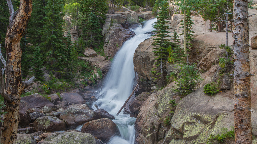 Alberta Falls at Rocky Mountain National Park