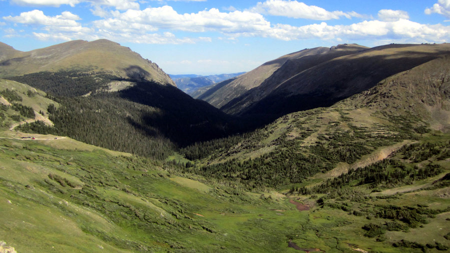 The view at the Alpine Visitor Center in Rocky Mountain National Park