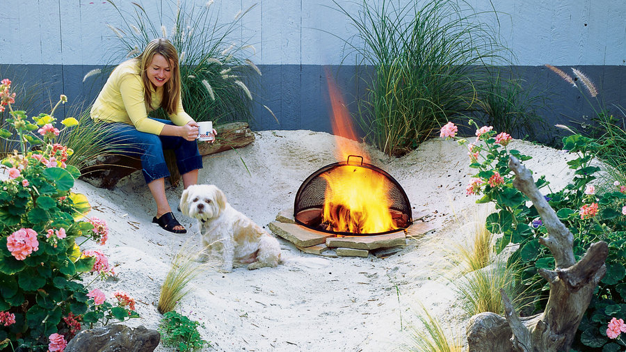 Small backyard beach
